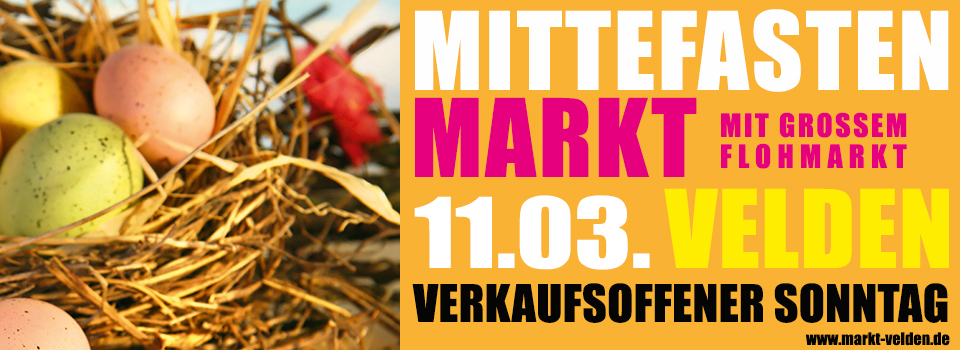 Mittefastenmarkt 2018 am 11.03. in Velden/Vils